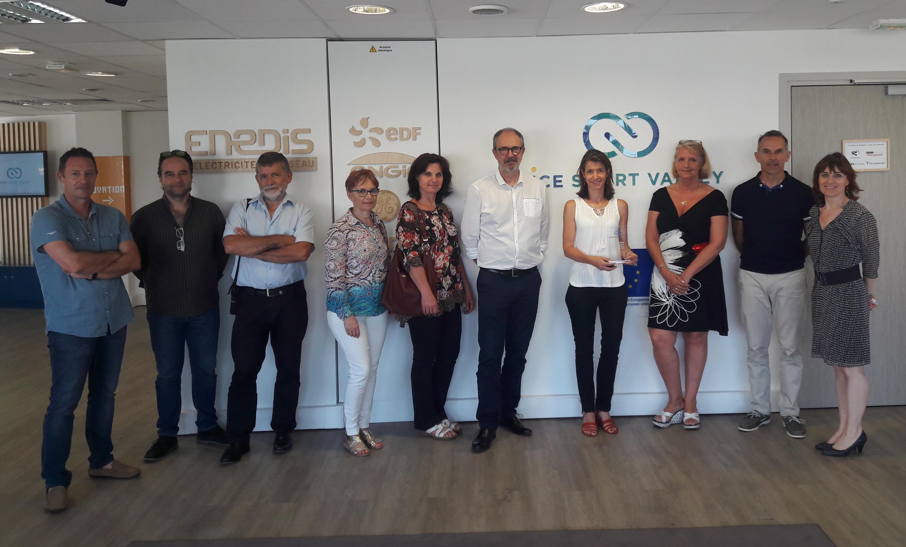 One-Too engagée dans la transition énergétique, avec Nice Smart Valley. Les entreprises présentes : Schneider Carros, Sofia Cosmétiques, Paindor, Augier, Régie Eaux d'Azur, One Too.
